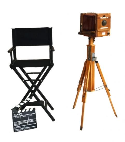 Ретро-фотоаппарат, режиссерское кресло, кино-хлопушка в аренду | MMG