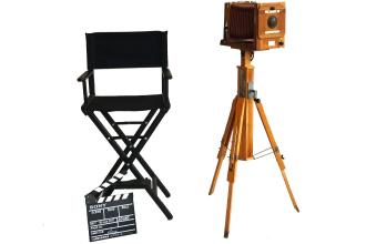 Аренда ретро-фотоаппарата, режиссерского кресла, кино-хлопушки